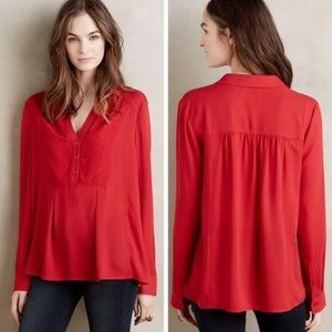 Anthropologie Maeve de Stijl red blouse